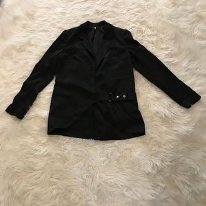Free people sz small black blazer jacket women's